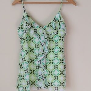 NY & CO Small Green Patterned Camisole